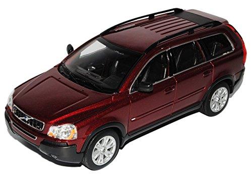 volvo-xc90-rot-suv-1-generation-2002-2015-1-24-welly-modell-auto-mit-individiuellem-wunschkennzeiche