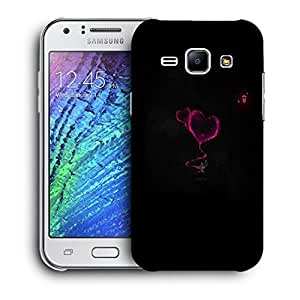 Snoogg Pink Heart Designer Protective Back Case Cover For Samsung Galaxy J1