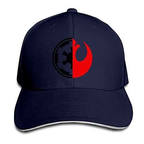 Hittings Bang Star Wars Rebel Alliance Logo Sandwich Baseball Cap Hats Navy