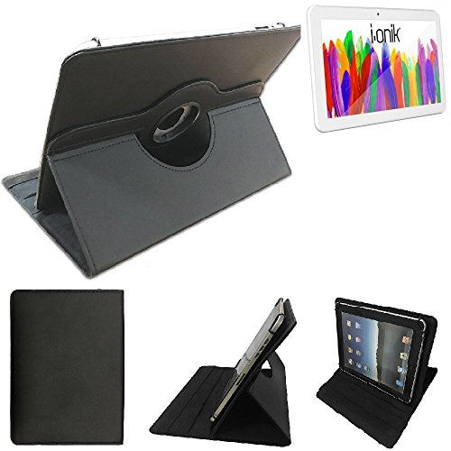 K-S-Trade i-onik TM3 Serie 1 10.1 Zoll Schutz Hülle 360° Tablet Case Schutzhülle Flip Cover für i-onik TM3 Serie 1 10.1 Zoll, schwarz. Tablet Hülle drehbar Standfunktion Ultra Slim B