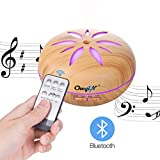550ML Diffuseur d'huile Essentielle/Humidificateur,Bluetooth Diffuseur d'aromathérapie de Musique- Avec Télécommande Pour SPA/Yoga/Bureau Etc