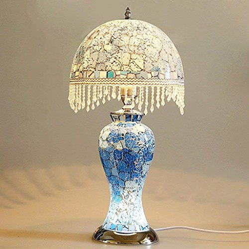 JU Table Lamp Bedside Lamp Mosaic Stained Glass Creative Night Light Dual - Use Decorative Lamps