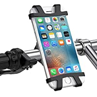UGREEN Bike Mount Universal Cell Phone Bicycle Holder with Adjustable Silicone Handlebar Crack for iPhone X 10 8 7 6s 6 plus, Samsung Galaxy S9 S8 plus, LG G5 G6 V20 V30 Nexus, and 4-6.2 inch phones