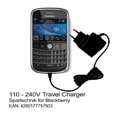 Steckdosen Adapter Blackberry: Internationaler Reiselader für RIM Black Berry 6000 7000 8100 Pearl 8300 8700 8800 9000 mit Wechseladapter für Amerika USA England UK Europa Australien 100 - 240Volt -