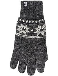 Heat Holders Mens Thermal Fairisle Jaquard Knitted Gloves