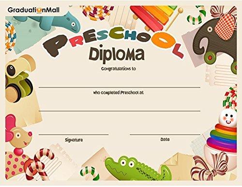 graduationmall Vorschule Diplom 5–30pro Pack 81/5,1x 27,9cm 5 per pack 5-pack