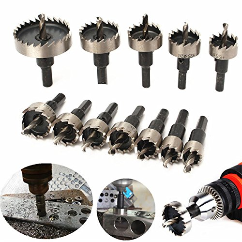 12 pcs pezzi 15-50mm HSS Hole Saw Cutter HSS Drill