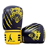 Guantoni da boxe Junior Kids & Adult Taglie Muay Thai Training in pelle Sparring Punching Bag, 1,8 OZ