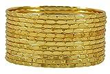 Matra 18k femmes indiennes goldplated traditionnelles 12 pcs Churi bracelets bijoux ethniques 2 * 10