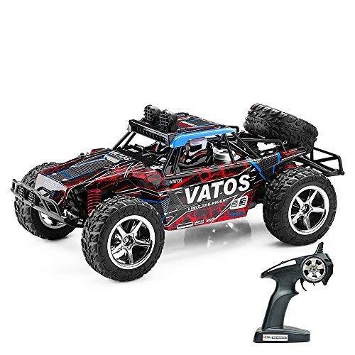 VATOS Ferngesteuertes Auto RC Auto Off Road High Speed 4WD 45km/h 1:12 Skala 50M Fernbedienung 15 Minuten Spielzeit 2,4GHz Fahrzeug Buggy Truck mit LED-Nachtsicht