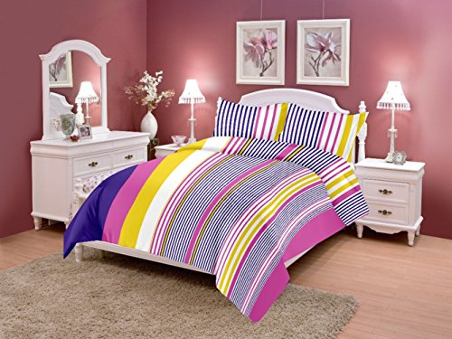 Home Elite 124 TC Cotton Double Bedsheet with 2 Pillow Covers - Geometric, Multicolour