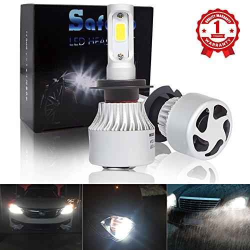 H7 LED Auto Scheinwerfer Birnen Kit - Safego 8000lm COB Chip LED Licht Umbausatz 12V für Auto / Fahrzeug Ersetzt Halogen oder HID Birne Lampen S2-H7 Strobe-kit Ersatz-birne