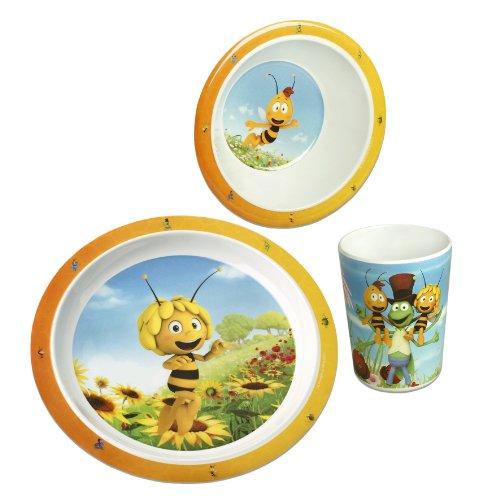 MAYA L´ABEILLE Le service à vaisselle Maya l'abeille vaisselle bébé, blanc