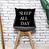 NEEDRA Startseite Kissenbezug Dance All Night Schlaf All Day Throw Pillowcase Kissenbezüge