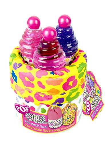 Pop / Geschenk-Set: Beauty Bag + Duschgel + Körperpeeling + Body Glitter - für Kinder