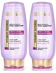 Dessange - Infusion Lumière Gelée Démêlante Hydra-Illuminante Pour Cheveux Ereints En Perte De Lumière - 200 ml - Lot de 2
