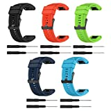 Favourall Garmin Fenix 5X 26mm Breite Schnellinstallation Soft Armband Silikon Sportarmband Uhr Band für Fenix 3/ HR/Saphir / Garmin D2 Bravo/Quatix 3 / Tactix Bravo Uhrenarmband 3 PCS