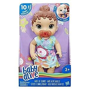 Baby Alive- Lil Sounds Brn Hair, Multicolor (Hasbro E3688ES0)