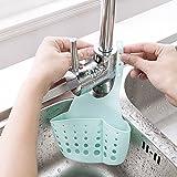 Rishx 2 pezzi appeso stoccaggio cestino di scarico multifunzione lavello organizzatore cremagliera bagno appeso organizzatore cucina bagno rubinetto regolabile cestino spugna pennello sapone lavasciuga titolare (colore casuale)