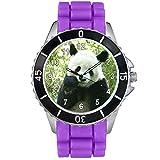 Timest - Panda - Unisex Reloj con Correa de Silicona morado Analógico Cuarzo CSE065pu