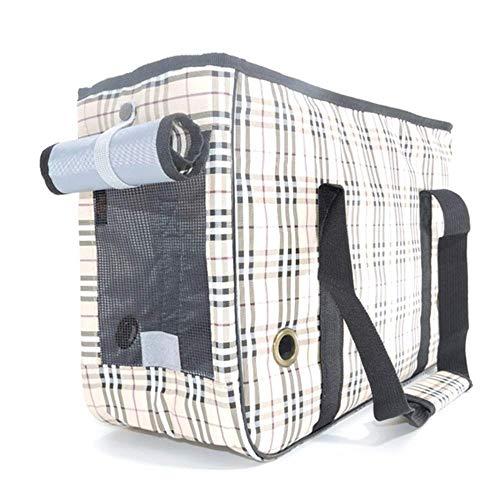 IRVING Luxury Pet Carrier Under Seat Kompatibilität für Hunde und Katzen - Soft Sided Portable Tote Bag Backpack (Color : B, Size : M) -