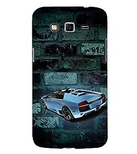 Sports Car Graffiti 3D Hard Polycarbonate Designer Back Case Cover for Samsung Galaxy Grand 2 :: Samsung Galaxy Grand 2 G7105 :: Samsung Galaxy Grand 2 G7102