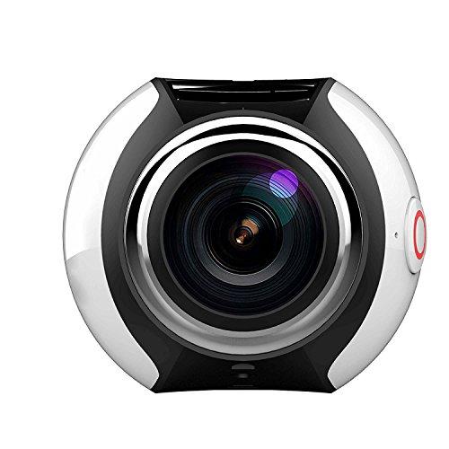 Sport Action Kamera Ultra HD Camcorder 16MP WIFI Wasserdichte Kamera 360Grad Weitwinkel Mini Panorama video 3D VR Kamera mit mehreren App Display Modi, silber