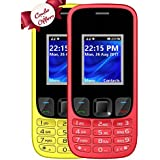I KALL K29 Dual Sim Mobile Combo Of Two Basic Feature Mobile Phone With 1800 MAh Battery Capacity - Yellow And Red