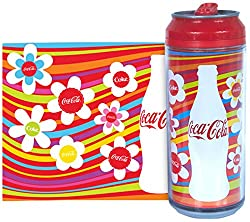 Coke Bottle Cap Flowers Can, 473ml, Red