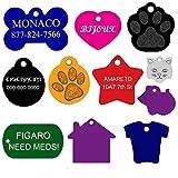 Dog ID Tags Custom Engraved | 11 Shapes | 8...