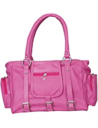 Paras Fashions Stylish Synthetic Leather Handbag For Womens - Pink Color 4 External Pockets
