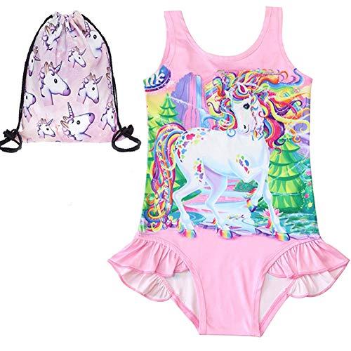 LX-Top Ragazza Costume da Bagno Unicorno Costumi da Bagno Balze Ruffle Costume Intero più Confortevole