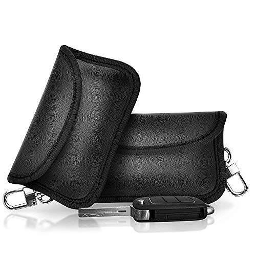 Q-xun Étui de Sécurité pour Clef de Voiture,Dispositif Anti-vol,Protection et Sécurité de la Vie Privée du,Brouilleur Telephone Portable Bloque Signal RFID/NFC/WiFi/GSM/Bluetooth-Noir