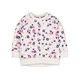 Mothercare Baby-Mädchen Sweatshirt Grey Flower Sweat, Grau, 74