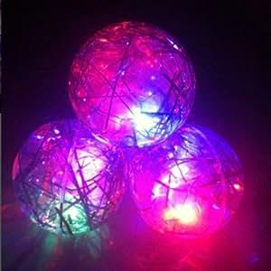 Colorful Saut éclair jouet boule transparente balle qui rebondit