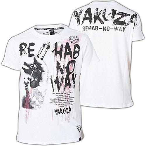 Yakuza T-Shirt TSB-511 Weiß Weiß