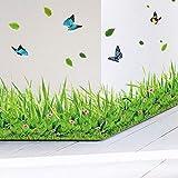 Frühling bunte blume gras schmetterling sockelleine diy hauptabziehbild baseboard wandaufkleber küche bad möbel hochzeit 137x41 cm