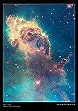 Poster con immagine dal telescopio spaziale Hubble –Gas nella Nebulosa della Carena, carta per poster laminata di alta qualità [DS14], Carta, A2