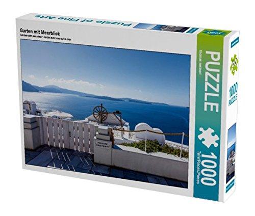 Preisvergleich Produktbild Garten mit Meerblick auf Santorin 1000 Teile Puzzle quer (CALVENDO Orte)