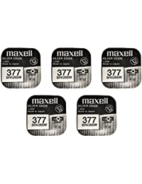 MAXELL 377 Batterie silberoxide 1,55V, 5x Einzelblister