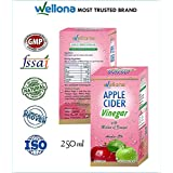Wellona Apple Cider Vinegar With Mother For Weight Loss, Skin, Hair Growth For Unisex 250Ml