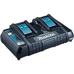 Makita Chargeur rapide double pour 2 batteries Li-ion/Ni-Mh