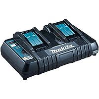 Makita DC18RD Chargeur rapide double pour 2 batteries Li-ion/Ni-Mh