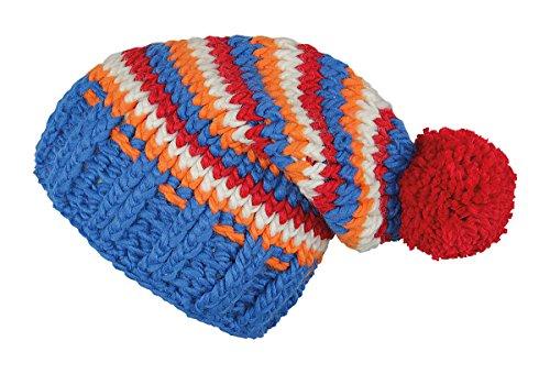 RED HOT® OSBY Cappello di lana - Fatti a mano - Unica (Berretto Toque), Red Hot Farben:Farbe 1 / Blau