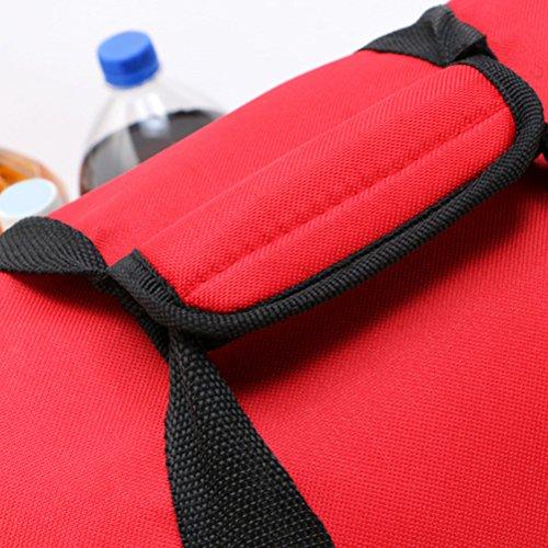 Zhhlaixing 25L All'aperto Insulated Cooler Bag Picnic Lunch Bag Shoulder Bag Adjustable Navy blue
