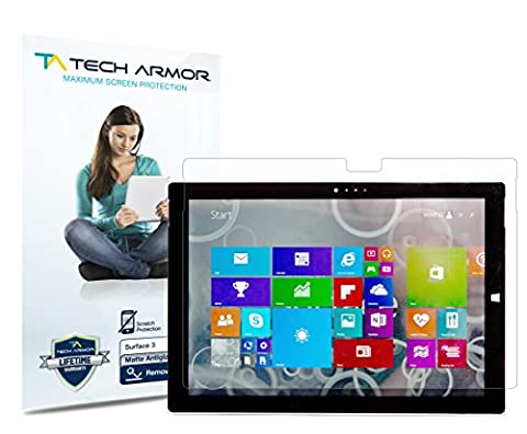 Tech Armor - Anti-Glare/Anti-Fingerprint Film Screen Protector for Microsoft Surface 3 (2015) [Not Pro 12