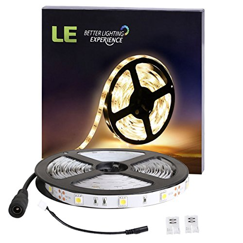 LE Striscia 5m 150 LEDs 5050, Impermeabile Luce bianca calda Flessibile 12V Per decorazione interna festa matrimonio cerimonia