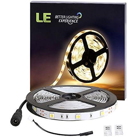 LE Tira de Luces LED, 5 Metros,150 LED 5050, 12V,  Blanco Cálido (3000k), 360lm/m