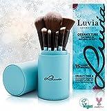 Luvia Cosmetics Kosmetik Pinselset Ocean's Tube - 15er Schminkpinsel Set inkl. Wimpern Brauen Kamm - Qualitäts Pinselset / Schminkwerkzeug Kosmetikpinsel Sets