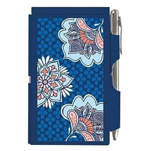 Wellspring FLIPNOTES calepin Corail Bleu ciel Tunique Motif floral &Wellspring Par bloc-notes et stylo
